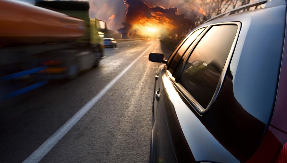 Car & Truck On Arizona Highway