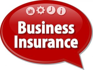 Red button with Business insurance text San Tan Insurance